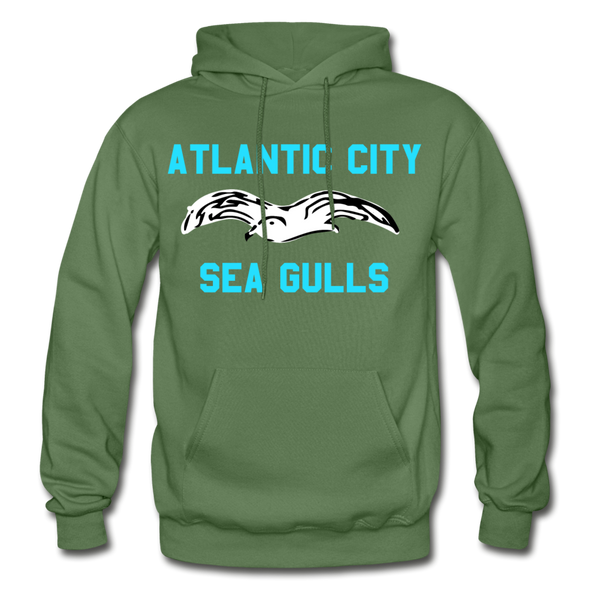 Atlantic City Sea Gulls Logo Hoodie (EHL) - military green