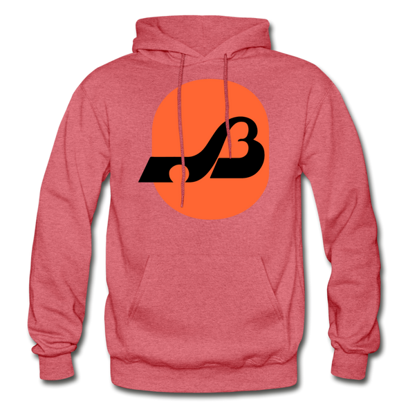 Baltimore Blades Logo Hoodie (WHA) - heather red