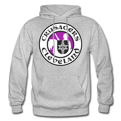 Cleveland Crusaders Logo Hoodie (WHA) - heather gray
