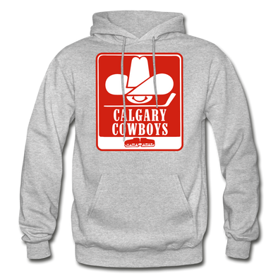 Calgary Cowboys Logo Hoodie (WHA) - heather gray