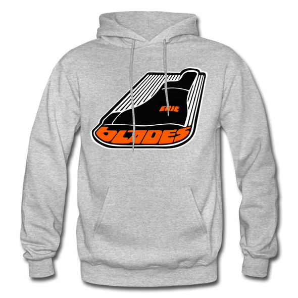 Erie Blades Logo Hoodie (NAHL) - heather gray