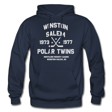 Winston Salem Polar Twins Dated Hoodie (Single Sided) - navy