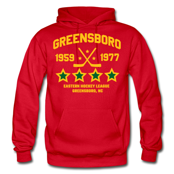 Greensboro Hockey Club Dated Hoodie (EHL & SHL) - red