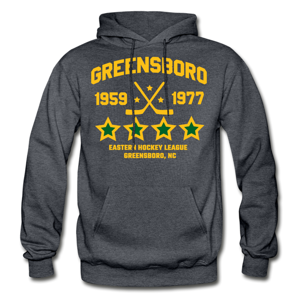 Greensboro Hockey Club Dated Hoodie (EHL & SHL) - charcoal gray