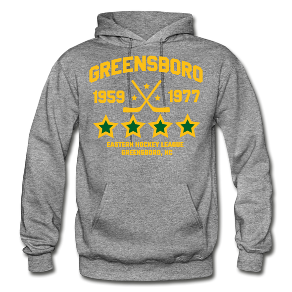 Greensboro Hockey Club Dated Hoodie (EHL & SHL) - graphite heather