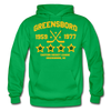Greensboro Hockey Club Dated Hoodie (EHL & SHL) - kelly green