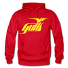 Hampton Gulls Yellow Logo Hoodie (SHL) - red