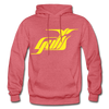 Hampton Gulls Yellow Logo Hoodie (SHL) - heather red