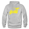 Hampton Gulls Yellow Logo Hoodie (SHL) - heather gray