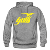 Hampton Gulls Yellow Logo Hoodie (SHL) - graphite heather