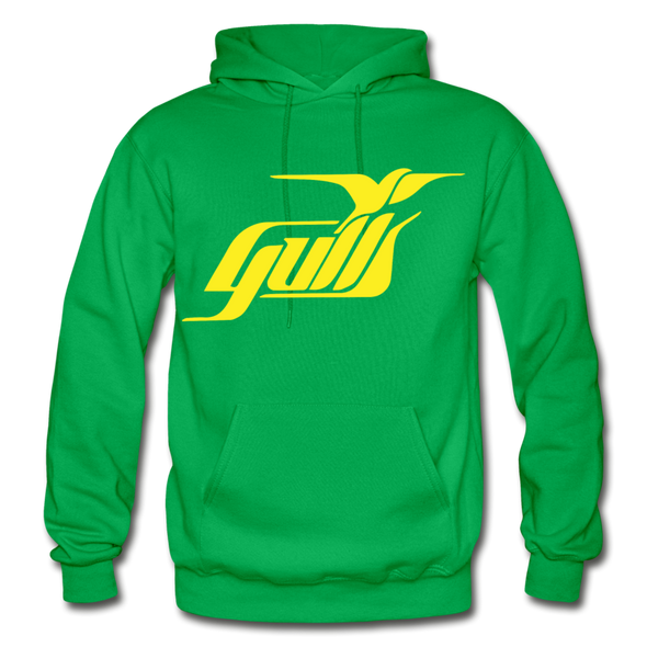 Hampton Gulls Yellow Logo Hoodie (SHL) - kelly green