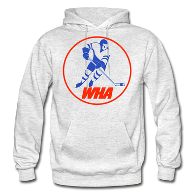 World Hockey Association Clear Logo Hoodie (WHA) - light heather gray