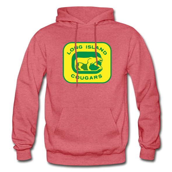 Long Island Cougars Logo Hoodie (NAHL) - heather red