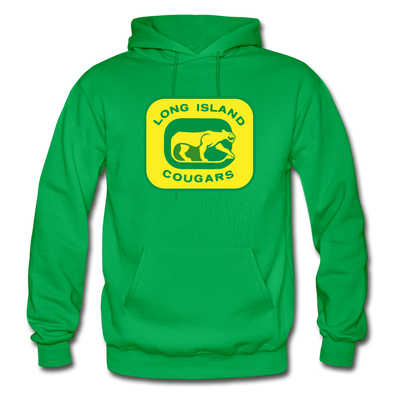 Long Island Cougars Logo Hoodie (NAHL) - kelly green