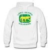 Long Island Cougars Distressed Logo Hoodie (NAHL) - white