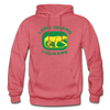 Long Island Cougars Distressed Logo Hoodie (NAHL) - heather red
