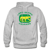 Long Island Cougars Distressed Logo Hoodie (NAHL) - heather gray