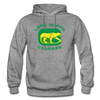 Long Island Cougars Distressed Logo Hoodie (NAHL) - graphite heather