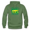 Long Island Cougars Distressed Logo Hoodie (NAHL) - military green