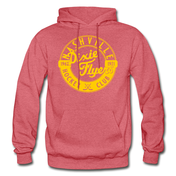 Nashville Dixie Flyers Circular Dated Hoodie - heather red