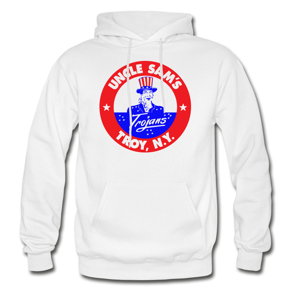 Troy Uncle Sam's Trojans Logo Hoodie (EHL) - white