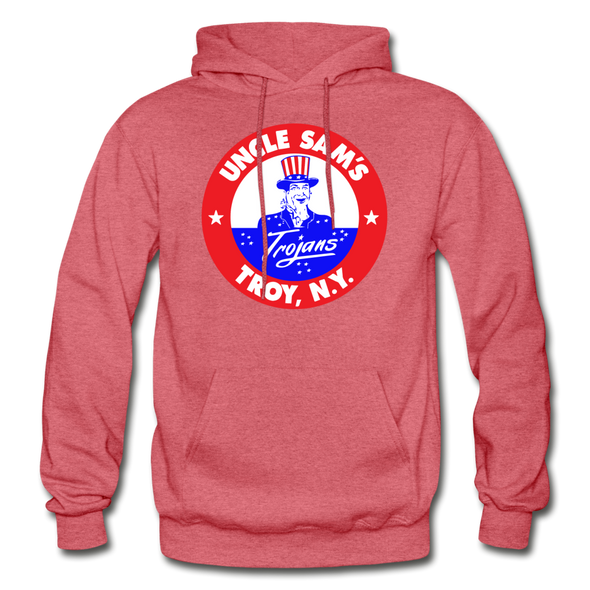 Troy Uncle Sam's Trojans Logo Hoodie (EHL) - heather red