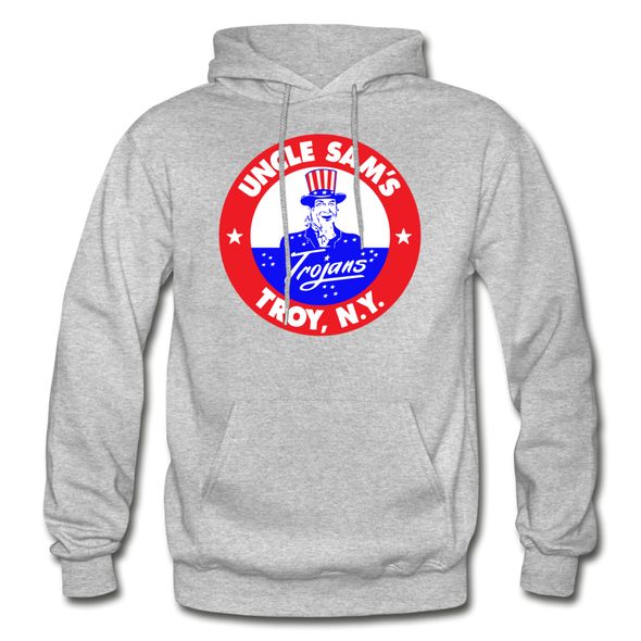 Troy Uncle Sam's Trojans Logo Hoodie (EHL) - heather gray