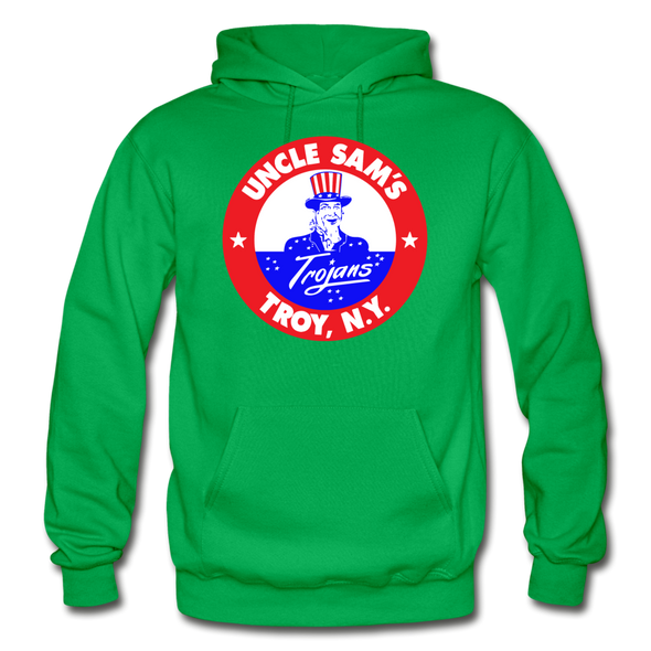 Troy Uncle Sam's Trojans Logo Hoodie (EHL) - kelly green