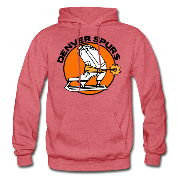 Denver Spurs Logo Hoodie (WHA & CHL) - heather red