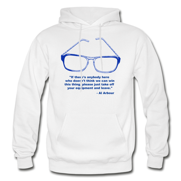 Lighthouse Hockey Glasses Hoodie - white