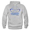 Lighthouse Hockey Glasses Hoodie - heather gray