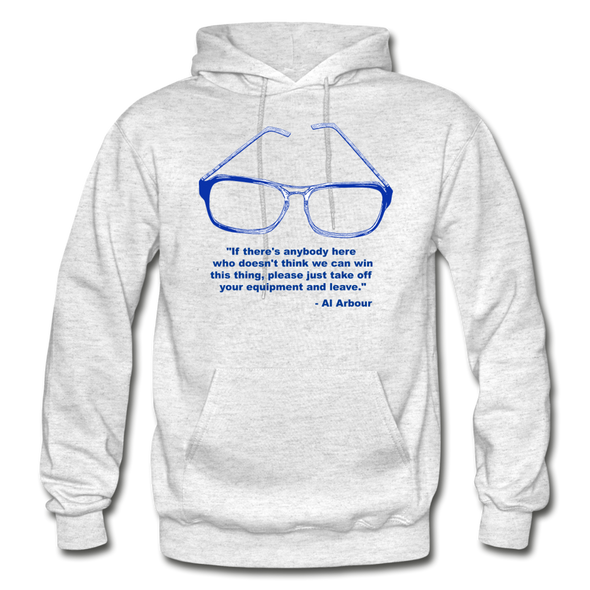 Lighthouse Hockey Glasses Hoodie - light heather gray