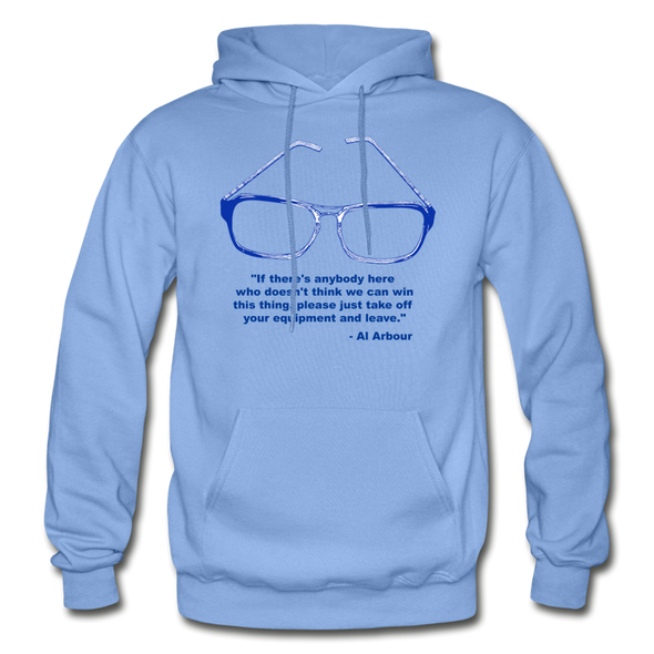 Lighthouse Hockey Glasses Hoodie - carolina blue