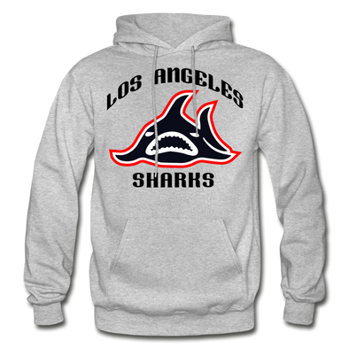Los Angeles Sharks Logo Hoodie (WHA) - heather gray