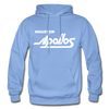 Houston Apollos White Logo Hoodie (CHL) - carolina blue