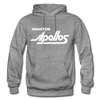 Houston Apollos White Logo Hoodie (CHL) - graphite heather