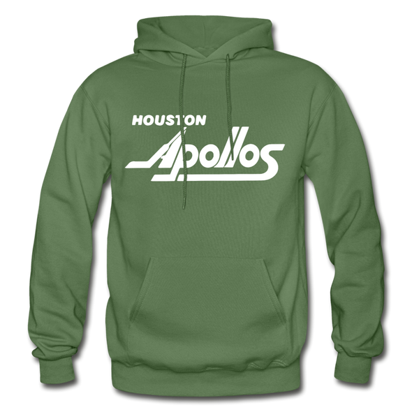 Houston Apollos White Logo Hoodie (CHL) - military green