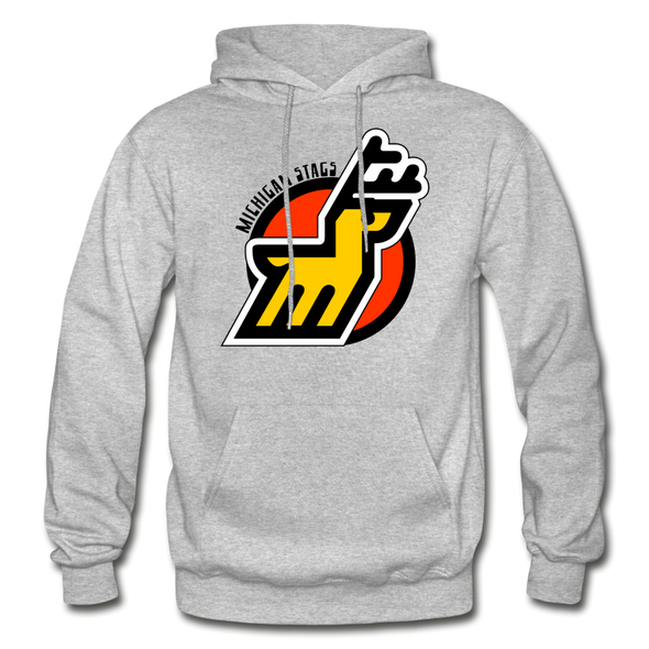 Michigan Stags Logo Hoodie (WHA) - heather gray