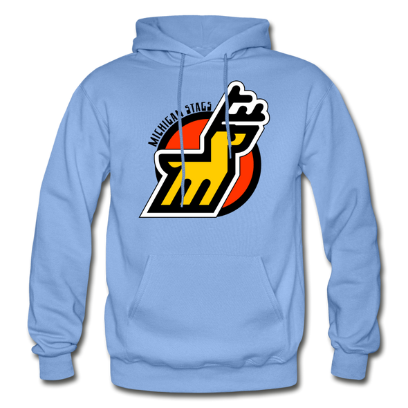 Michigan Stags Logo Hoodie (WHA) - carolina blue
