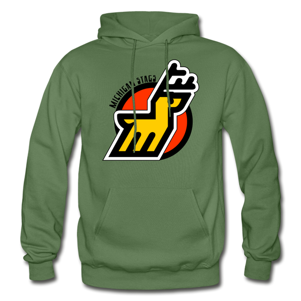 Michigan Stags Logo Hoodie (WHA) - military green