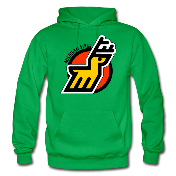 Michigan Stags Logo Hoodie (WHA) - kelly green