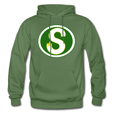 Memphis South Stars Logo Hoodie (CHL) - military green