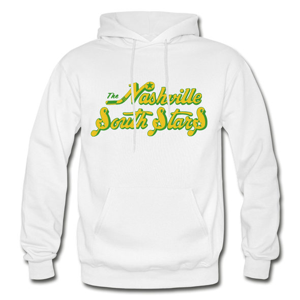 Nashville South Stars Text Logo Hoodie (CHL) - white