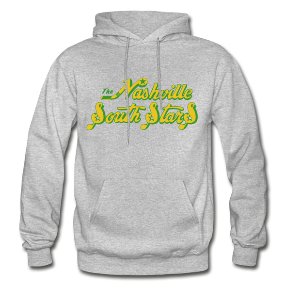 Nashville South Stars Text Logo Hoodie (CHL) - heather gray
