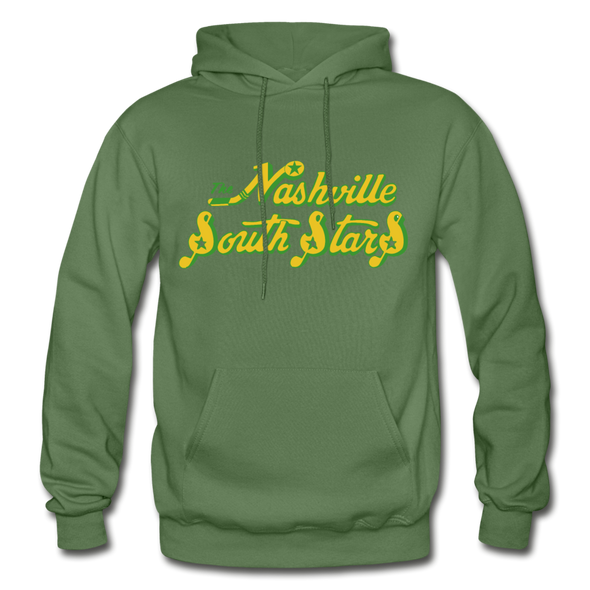 Nashville South Stars Text Logo Hoodie (CHL) - military green