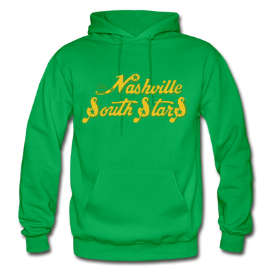 Nashville South Stars Text Logo Hoodie (CHL) - kelly green