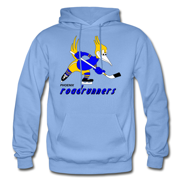 Phoenix Roadrunners Text Logo Hoodie (WHA & CHL) - carolina blue