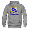 Phoenix Roadrunners Text Logo Hoodie (WHA & CHL) - graphite heather