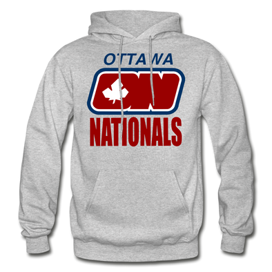 Ottawa Nationals Text Logo Hoodie (WHA) - heather gray