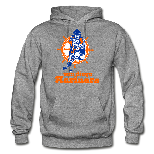 San Diego Mariners Logo Hoodie (WHA) - graphite heather
